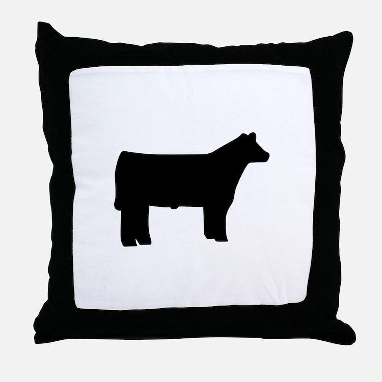 Steer Throw Pillow