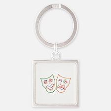 Comedy Tragedy Masks Keychains