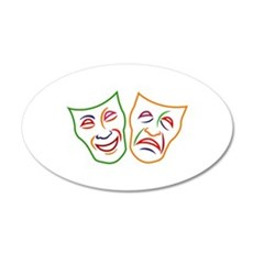 Comedy Tragedy Masks Wall Decal
