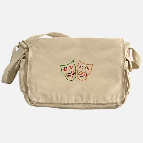 Comedy Tragedy Masks Messenger Bag