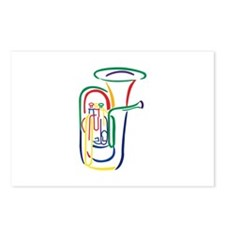 Tuba Outline Postcards (Package of 8)