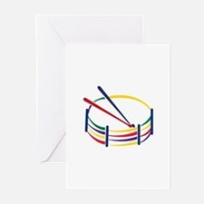 Snare Drum Greeting Cards