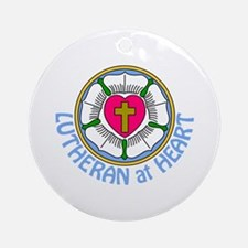 Lutheran At Heart Ornament (Round)