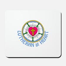 Lutheran At Heart Mousepad