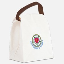 Lutheran At Heart Canvas Lunch Bag