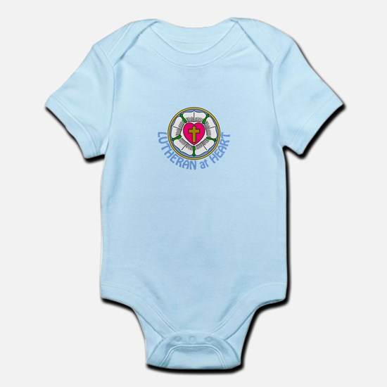Lutheran At Heart Body Suit