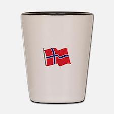 Norwegian Flag Shot Glass