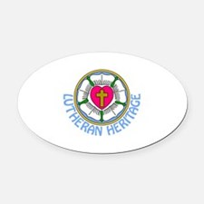 Lutheran Heritage Oval Car Magnet