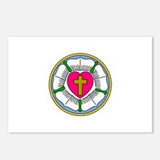 Lutheran Rose Postcards (Package of 8)
