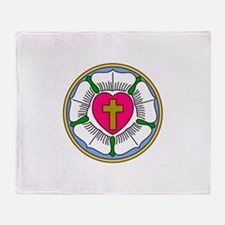 Lutheran Rose Throw Blanket