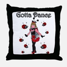 Ladybugs Gotta Dance Throw Pillow