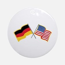German American Flags Ornament (Round)