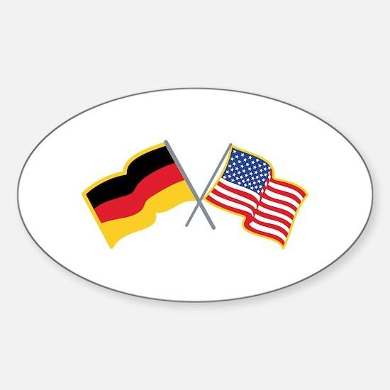 German American Flags Decal