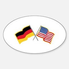 German American Flags Decal