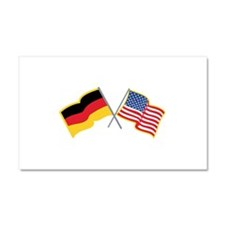 German American Flags Car Magnet 20 x 12