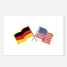 German American Flags Postcards (Package of 8)