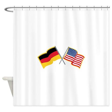 german american flags shower curtain by grandslamdesigns07. Black Bedroom Furniture Sets. Home Design Ideas