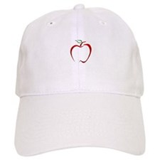 Apple Outline Baseball Baseball Baseball Cap