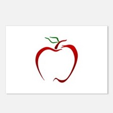Apple Outline Postcards (Package of 8)