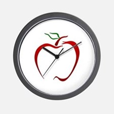 Apple Outline Wall Clock