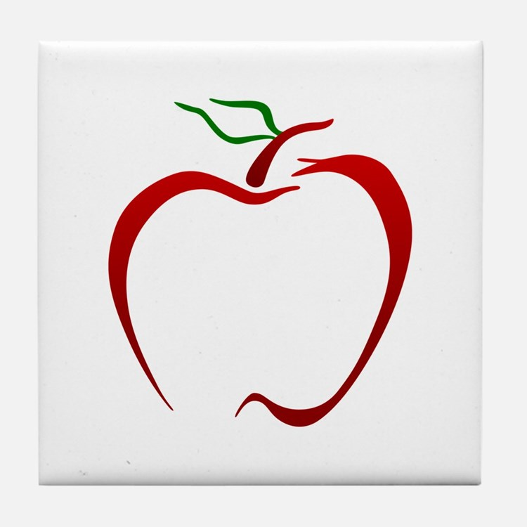 Apple Outline Tile Coaster