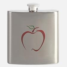 Apple Outline Flask