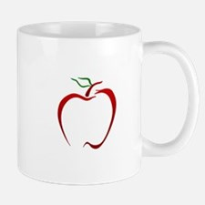 Apple Outline Mugs
