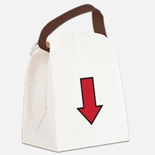 Red Arrow Canvas Lunch Bag