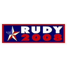 ::: Rudy 2008 ::: Bumper Bumper Sticker