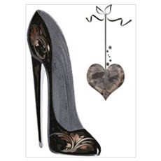 Stiletto and Heart Poster