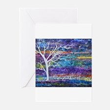 Abstract Tree landscape Greeting Cards