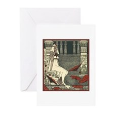 Egyptian Woman in Garden Greeting Cards (Pk of 10)
