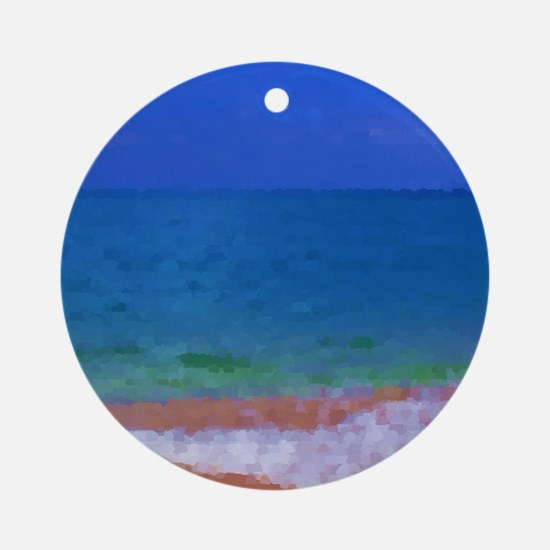 painting water landscape Round Ornament