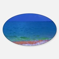 painting water landscape Sticker (Oval)