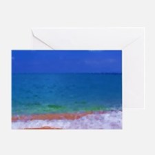 painting water landscape Greeting Card