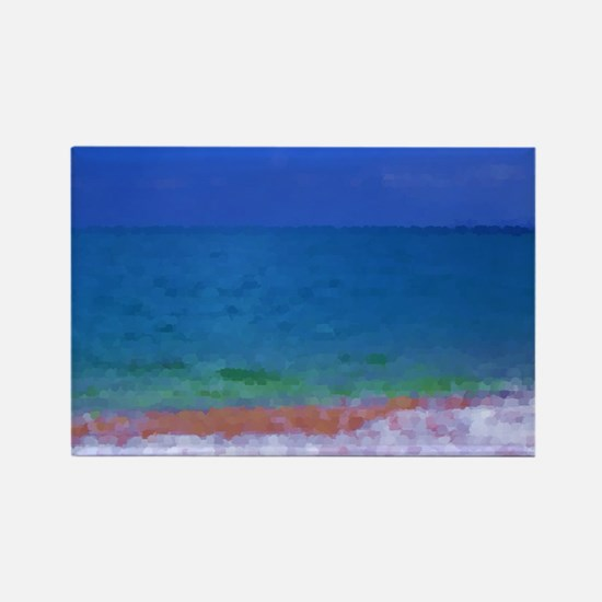painting water landscape Rectangle Magnet