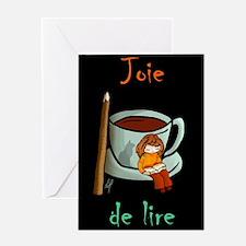 """""""Joie de lire"""" Greeting Card"""