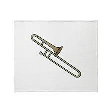 Trombone Throw Blanket