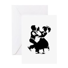 Jitterbug Silhouette Greeting Cards
