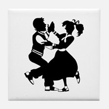 Jitterbug Silhouette Tile Coaster