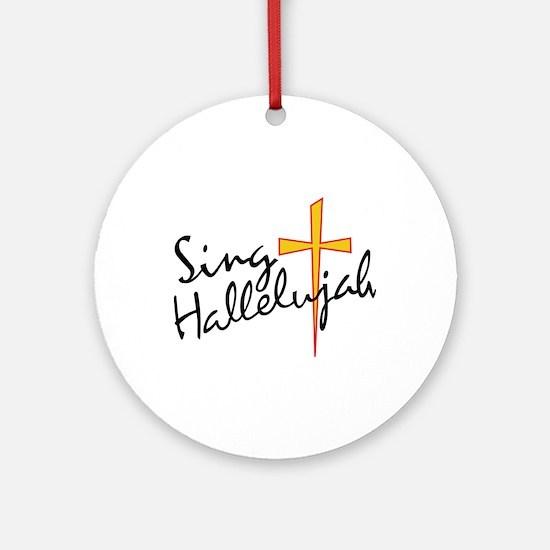 Sing Hallelujah Ornament (Round)