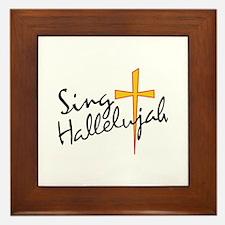 Sing Hallelujah Framed Tile