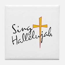 Sing Hallelujah Tile Coaster