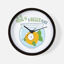 Moving Fish Wall Clock