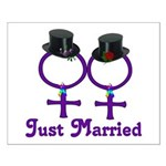 Just Married Formal Lesbian Small Poster