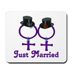 Just Married Formal Lesbian Mousepad