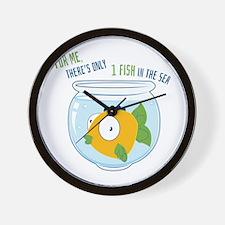 1 Fish Wall Clock