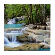 Forest Waterfalls Tile Coaster