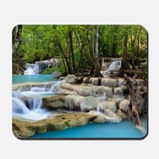 Forest Waterfalls Mousepad