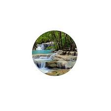 Forest Waterfalls Mini Button